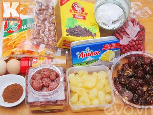 Cách tự làm bánh hoa quả cho Noel