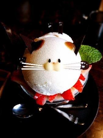 Không nỡ lòng ăn món kem mặt mèo siêu đáng yêu này !