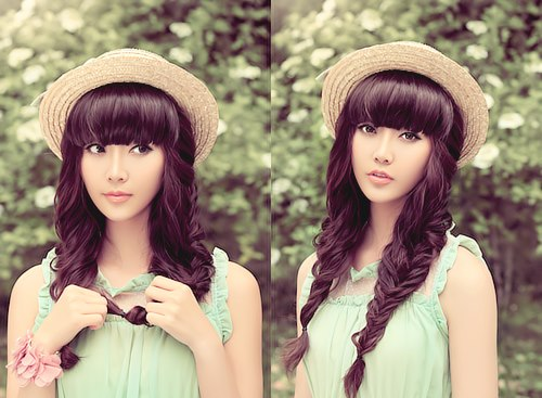 Kiểu tóc tết hai bên đơn giản đẹp cho bạn gái khuôn mặt tròn