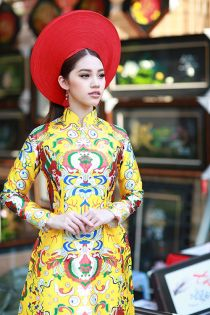Hoa hậu Việt kiều lần đầu mặc áo dài đón xuân