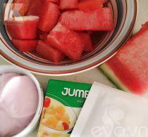 Thạch dưa hấu sữa chua mát lạnh xua tan nắng hè