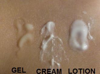 Phân biệt các dạng sản phẩm dưỡng da: Gel, cream, lotion