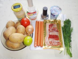 Salad khoai tây đậm đà vị salad thanh chua, dịu ngọt với sốt mayonnaise
