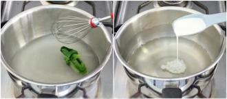 Làm món bánh trung thu rau câu kiwi đẹp mắt