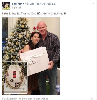 Thu Minh khoe quà Noel xa xỉ của chồng tặng