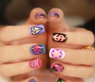 15 mẫu nail họa tiết cực kute dễ thương