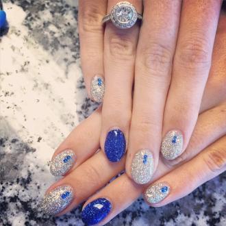 15 mẫu nail kim tuyến hiện đại sang trọng 2016