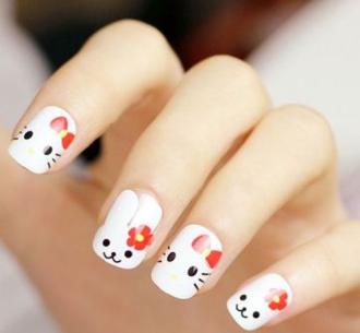 Mẫu nail dễ thương hình con mèo